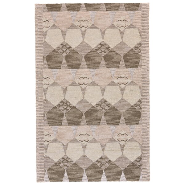 Pacifica Hand-Tufted Gray/Taupe Area Rug by Bungalow Rose