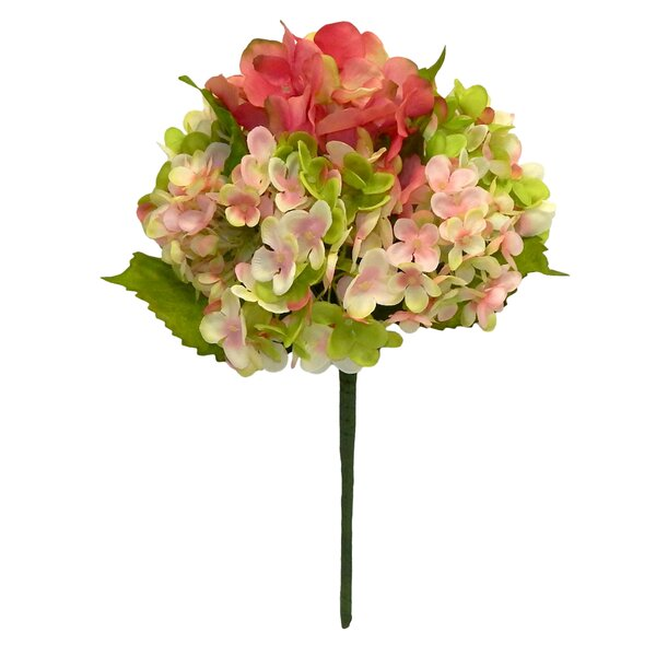 Full Bloom Hydrangeas Floral Arrangement by Charlton Home