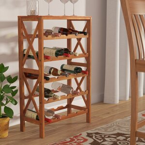 Davidsville 25 Bottle Floor Wine Rack by Andover Mills