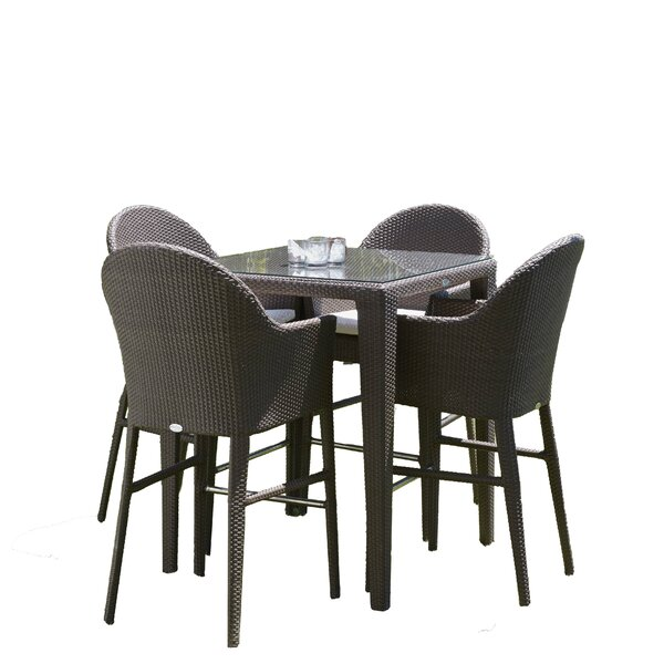 Jeremy 5 Piece Bar Height Dining Set with Cushions by Mistana