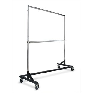 Affordable 64 W Commercial-Grade Rolling Z Clothes and Garment Rack By Econoco