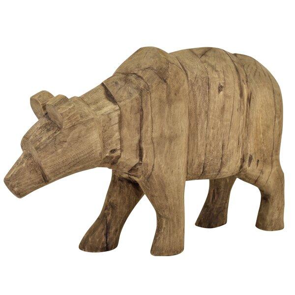 Mireya Wooden Grizzly Bear Figurine by Loon Peak