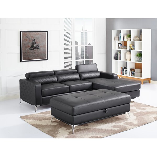 Aenwood Sectional with Ottoman by Orren Ellis