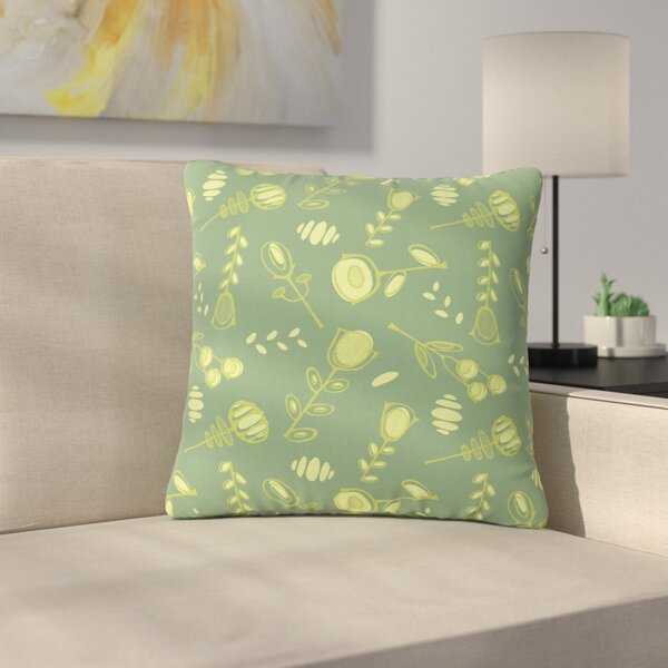 Holly Helgeson Hattie Floral Outdoor Throw Pillow by East Urban Home