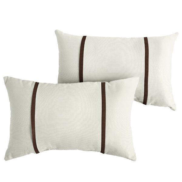 Fortenberry Indoor/Outdoor Sunbrella Lumbar Pillow (Set of 2) by Charlton Home