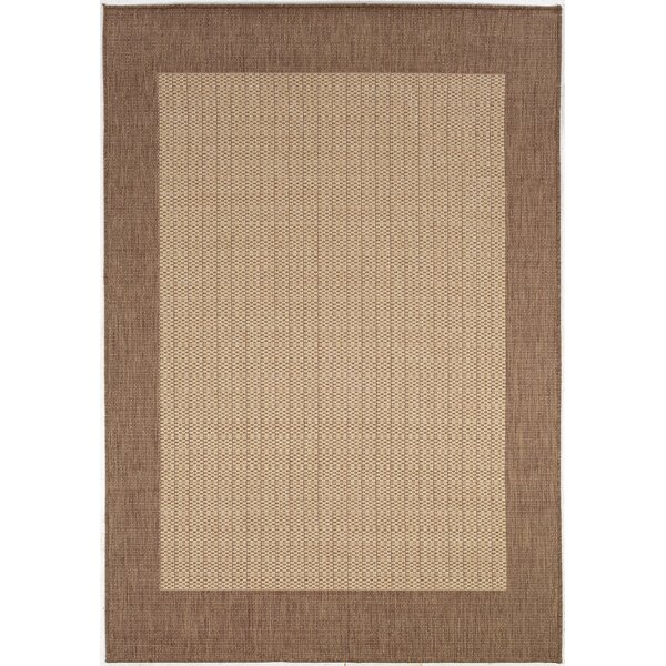 Klaus Checkered Field Brown Indoor/Outdoor Area Rug by Zipcode Design