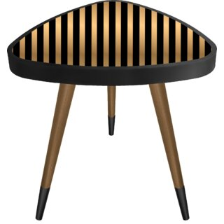 "Mayorga ""Striped"" Print Triangle Wooden End Table by Wrought Studio SKU:ED955301 Description"