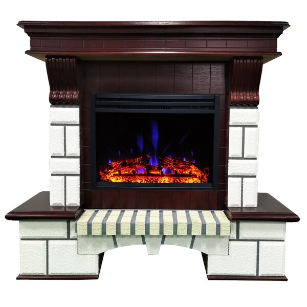 Hearthstone Faux Brick Mantel Electric Fireplace By Red Barrel Studio