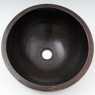 Find for Apron Hammered Metal Circular Vessel Bathroom Sink By Ambiente