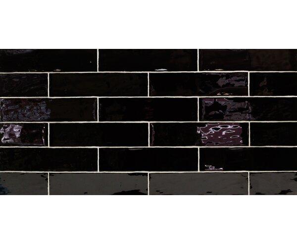 Catalina 3 x 12 Porcelain Subway Tile in Black by Splashback Tile