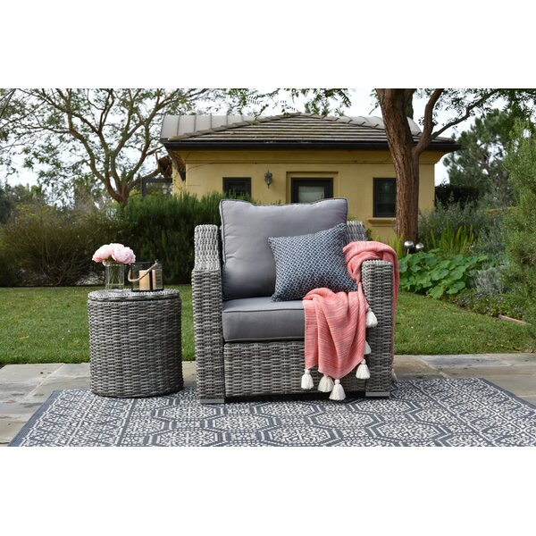 Vallauris Armchair with Cushion by Elle Decor