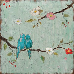 'Love Birds IV' Painting Print on Canvas by East Urban Home