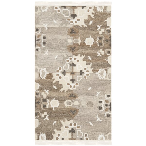 Natural Kilim Hand-Woven Gray/Brown Area Rug by Safavieh