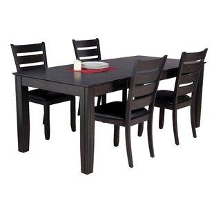 Avangeline 5 Piece Dining Set with Rectangular Table ByGracie Oaks