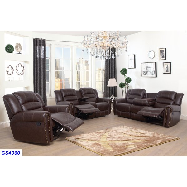 Kora 3 Piece Reclining Living Room Set by Red Barrel Studio