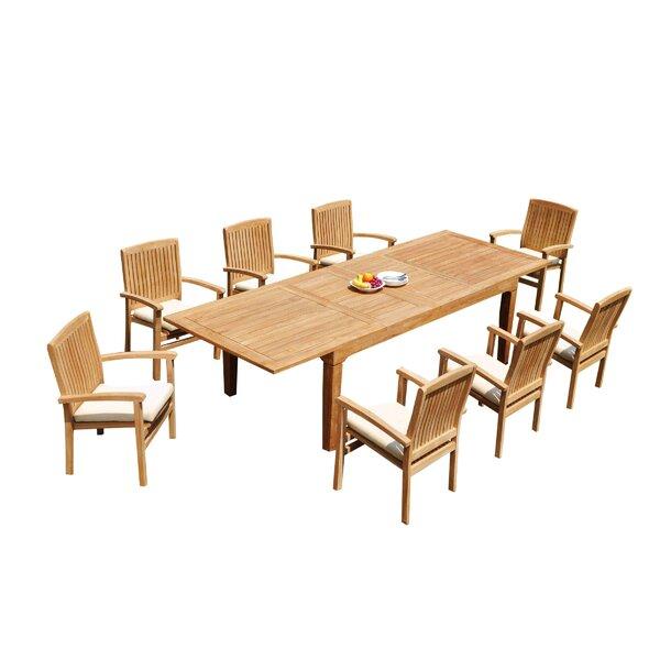 Matamoros 9 Piece Teak Dining Set By Rosecliff Heights by Rosecliff Heights Find