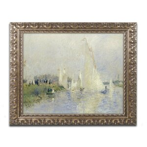 Regatta at Argenteuil 1874 by Pierre Renoir Framed Painting Print by Trademark Fine Art