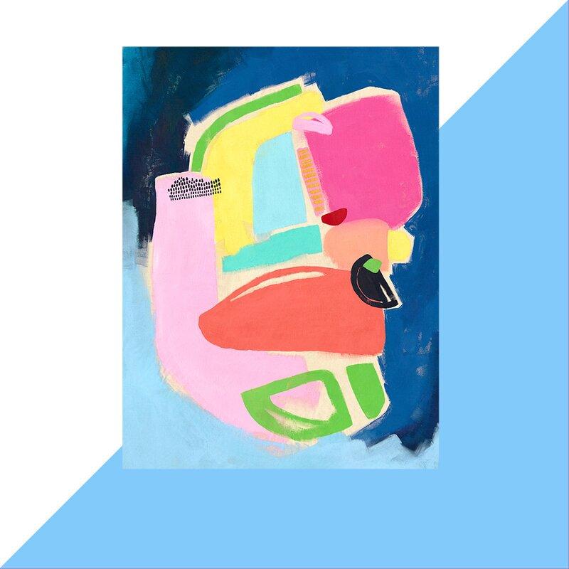 Hashtag Home Color Block 5 Acrylic Painting Print Wayfair