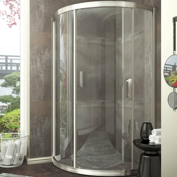 Baron 39 x 74.75 Sliding Framed Shower Door by ANZZI