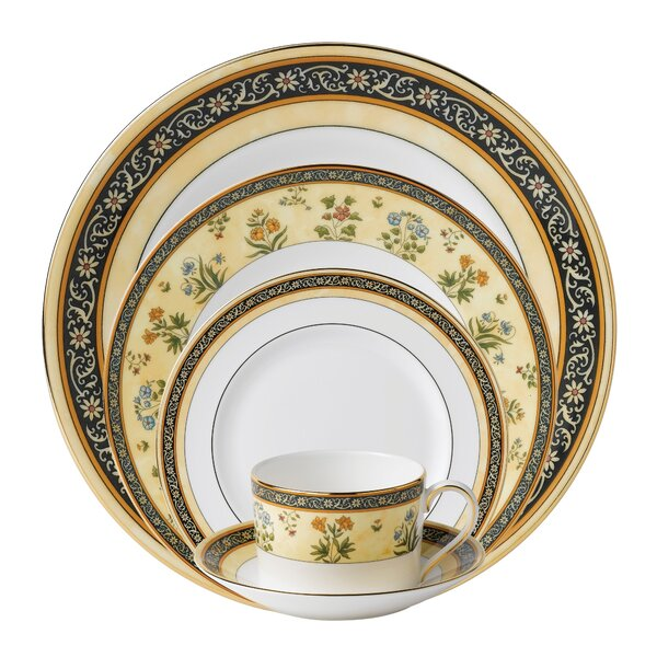 India Bone China 5 Piece Place Setting, Service for 1 by Wedgwood