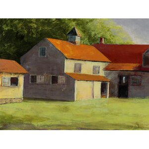 'Summertime Farm' by Susan Fehlinger Painting Print on Wrapped Canvas by Buy Art For Less