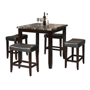 Dehaven 5 Piece Counter Height Dining Set