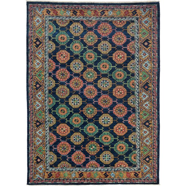 One-of-a-Kind Ziegler Hand-Knotted Navy / Yellow Area Rug by Darya Rugs