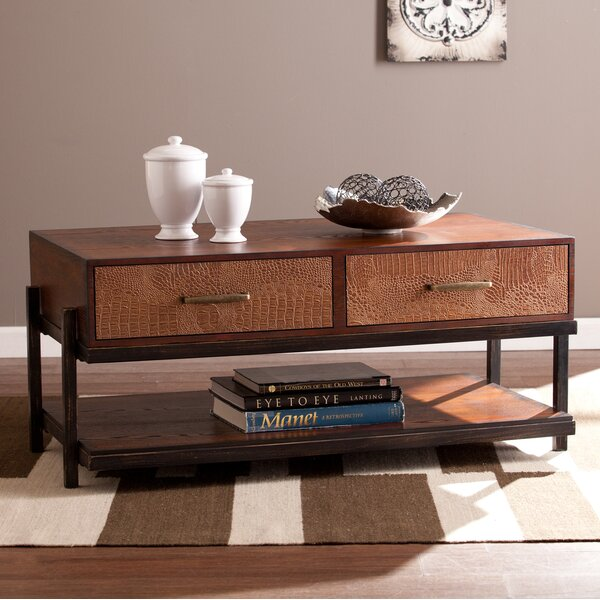 Burrell Coffee Table by Three Posts