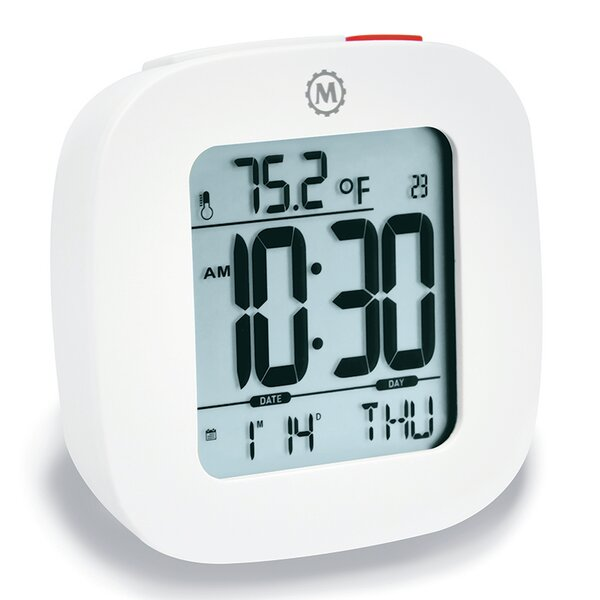 Compact Alarm Clock with Temperature and Date by Symple Stuff
