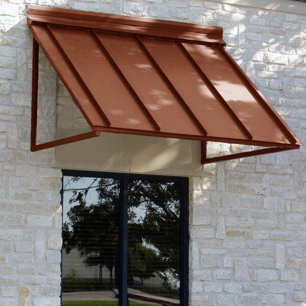 Houstonian Metal Standing Seam Window Awning by Awntech