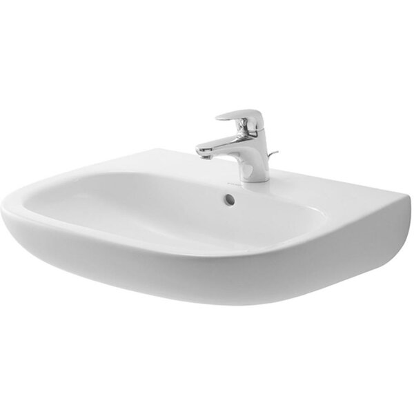 D-Code Ceramic 22 Wall Mount Bathroom Sink with Ov