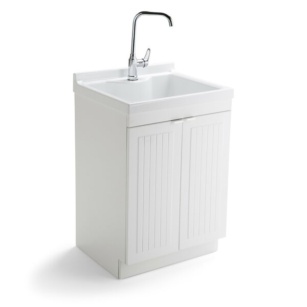 Murphy 24 x 20.5 Free Standing Laundry Sink with Faucet by Simpli Home