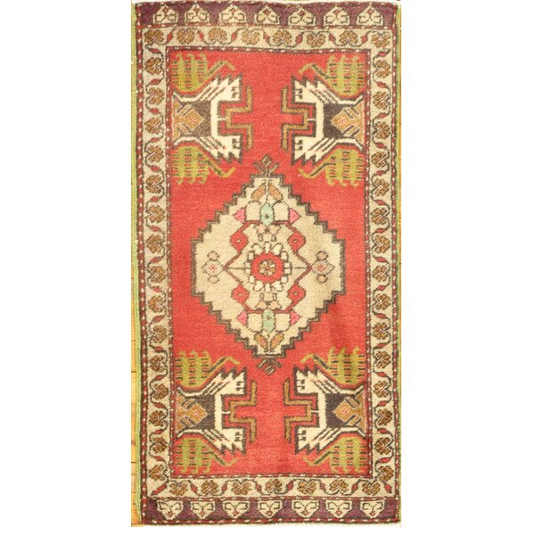 Hand-Knotted Red Area Rug by Pasargad NY