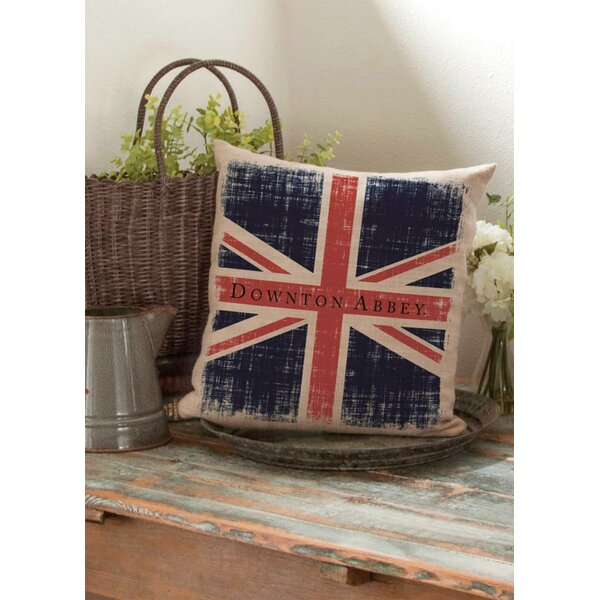 Downtown Abbey British Union Jack Decorative Square Throw Pillow by Northlight Seasonal