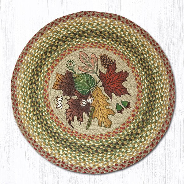 Autumn Leaves Tan Area Rug by Earth Rugs