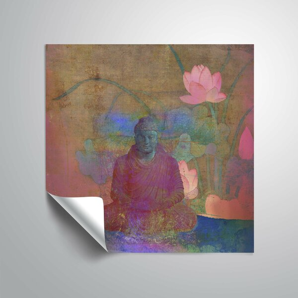 Buddha Bloom Wall Decal by World Menagerie