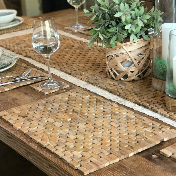 Recycled Teak Placemat Set (Set of 2) by Hip-O Mod