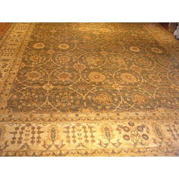 Ferehan Hand-Knotted Light Green/Beige Area Rug by Pasargad
