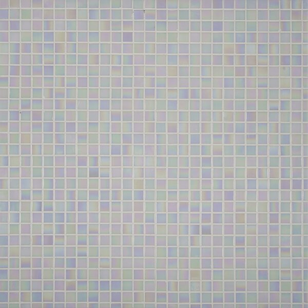 Iridescent 0.75'' x 0.75'' Glass Mosaic Tile in Mediterranean Pearl by MSI