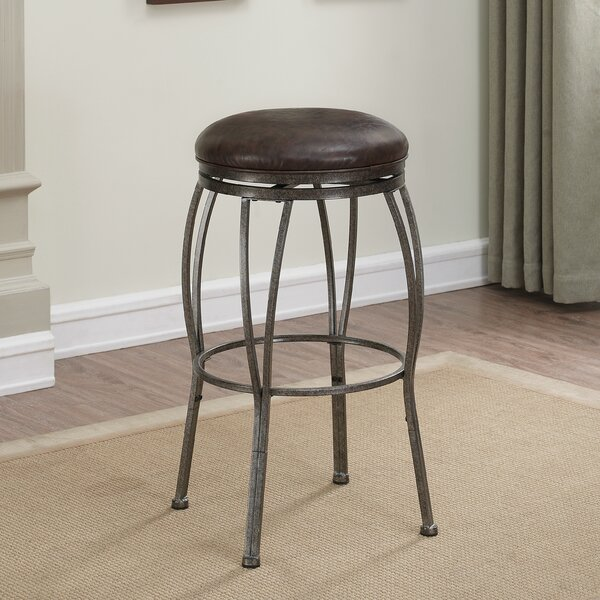 Vandemere Adjustable Height Swivel Bar Stool by Loon Peak Loon Peak