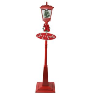 Reviews Bolanos Street Lamp and Christmas Tree 70.75 Post Light By The Holiday Aisle