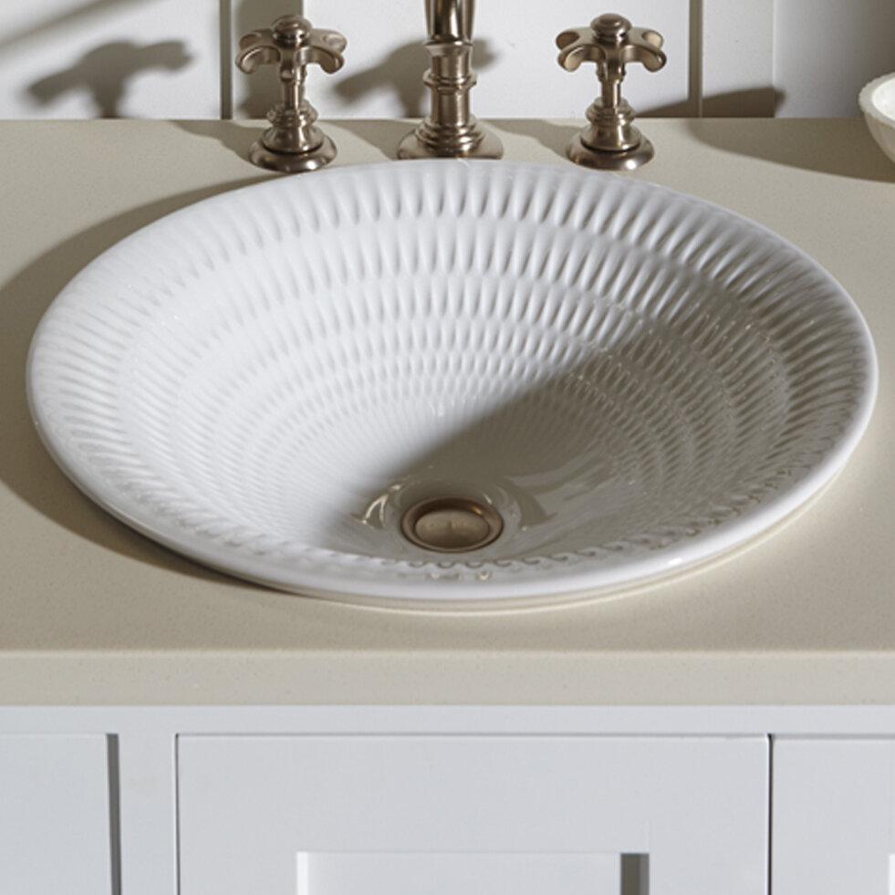 K 17890 Rl K8 Rb2 Kohler Derring Carillon Wading Ceramic Circular Drop In Bathroom Sink Reviews Wayfair
