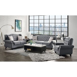 Navasota 3 Piece Living Room Set by Canora Grey