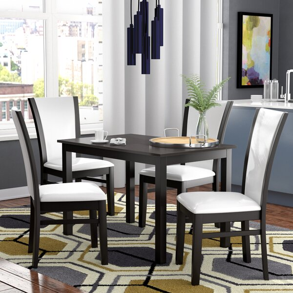 Ontonagon Modern and Contemporary 5 Piece Breakfast Nook Dining Set by Orren Ellis Orren Ellis
