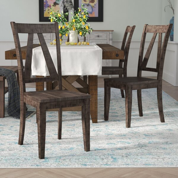 Best #1 Mcwhorter Solid Wood Dining Chair (Set Of 2) By Laurel Foundry Modern Farmhouse Great Reviews