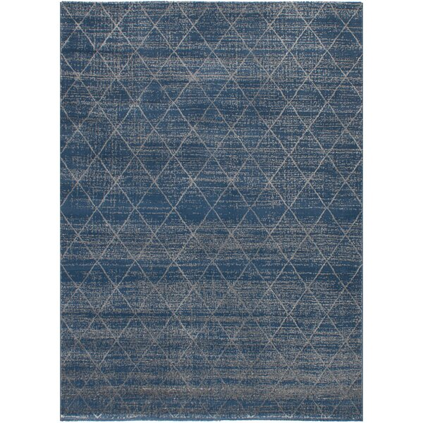 Duckworth Dark Blue/Light Gray Area Rug by Williston Forge