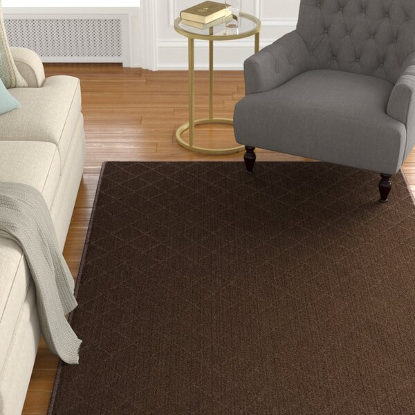 Huxley Brown Area Rug by Charlton Home