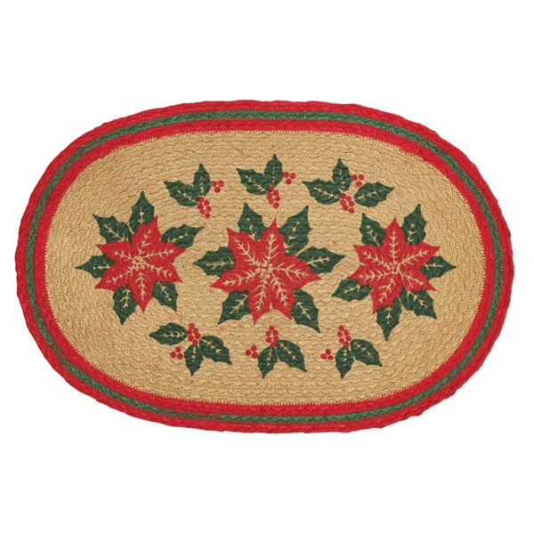 Poinsettia 12'' Placemat (Set of 6) by The Holiday Aisle
