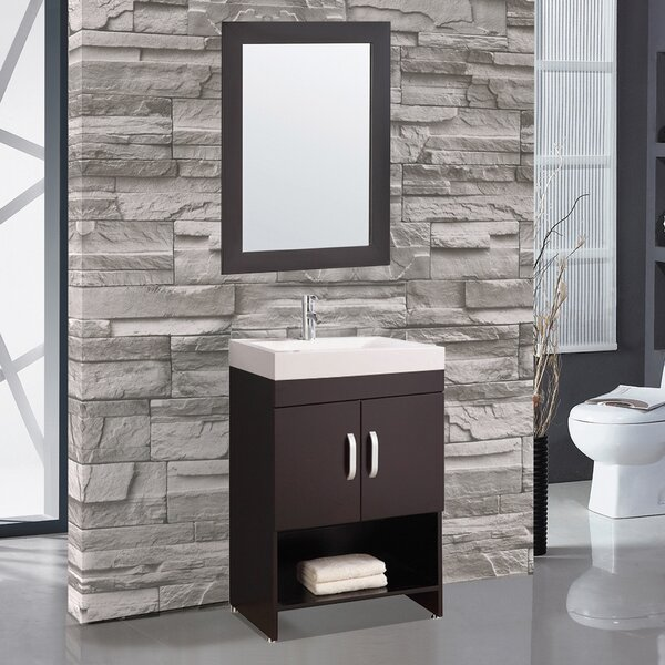Prager 24 Single Sink Bathroom Vanity Set with Mirror by Orren Ellis