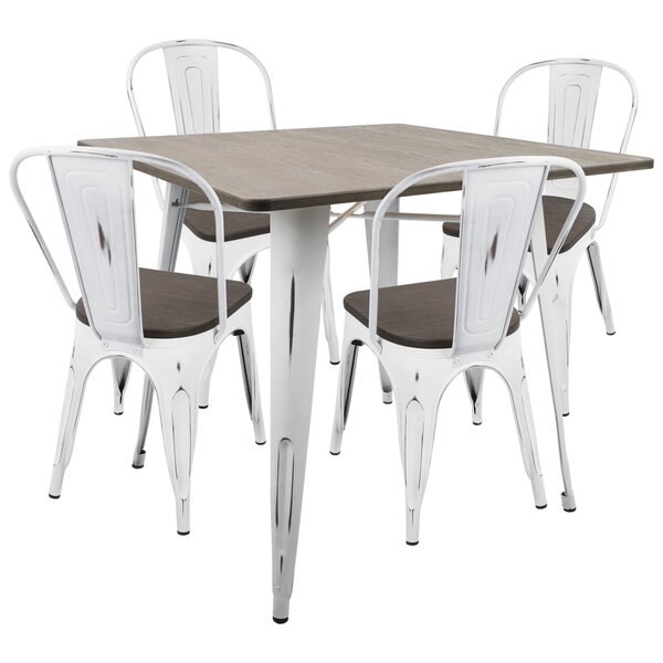 Pinnix 5 Piece Dining Set by Union Rustic